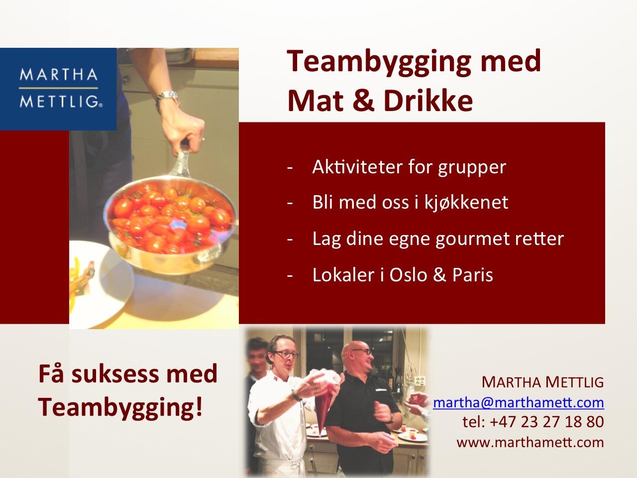Teambygging med Mat i Munnen hos Martha Mettlig