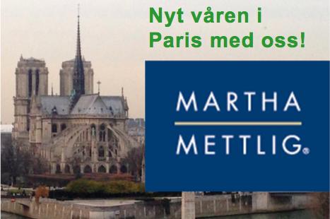 Martha Mettlig og Notre Dame i Paris
