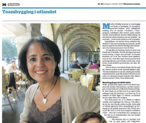 Ukeavisen ledelse: Nora Mahmoudi & Siren Drake Teambuilding in Paris