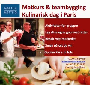 Kulinarisk dag i Paris med Martha Mettlig