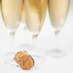 Champagnen er servert