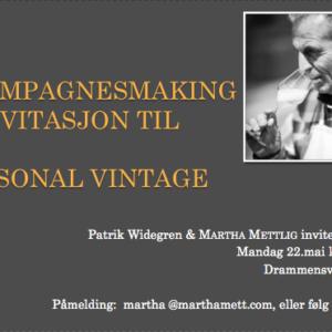 Champagnesmaking hos Martha Mettlig